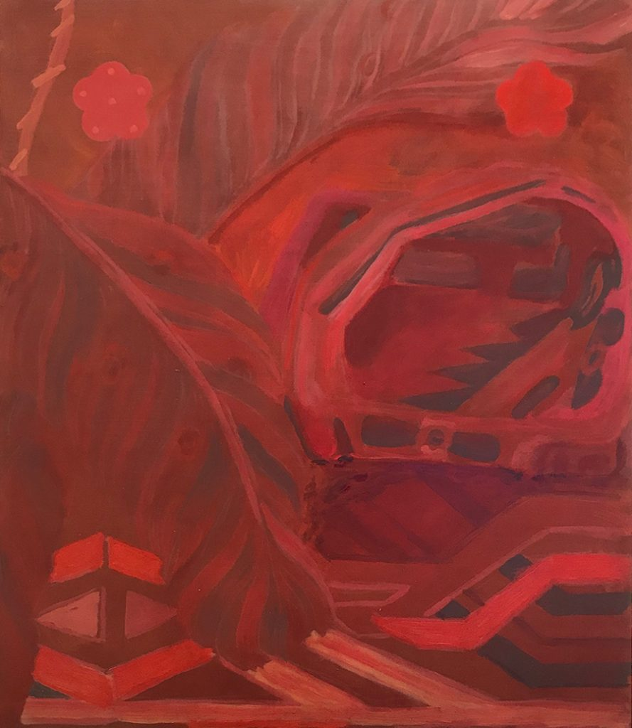 Afternoon, Heat, 2019, oil and acrylic on board, 65 x 75cm
