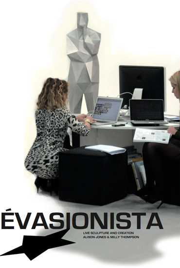 'Advertisement' for 'Évasionista', designed by Milly Thompson & Alison Jones for insertion into 'VUOTO'.