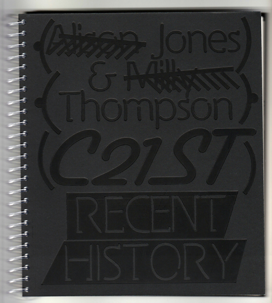 Alison Jones & Milly Thompson C21ST RECENT HISTORY, 2016