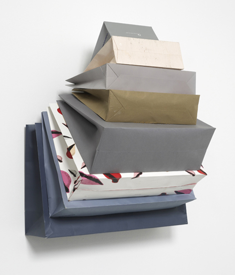 'Muse Privé ~ Dakar Dust', 2013, Bags, Cardboard, hook, 84 x 62 x 43 cm