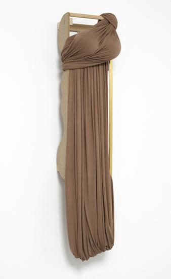 'Desert Siren ~ Nightjar', 2013, Viscose jersey, polystyrene, acrylic, wood, 148 x 38 x 33.5 cm