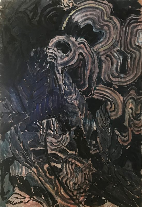 Night, Club, 2019, oil and acrylic on board, 60 x 87cm