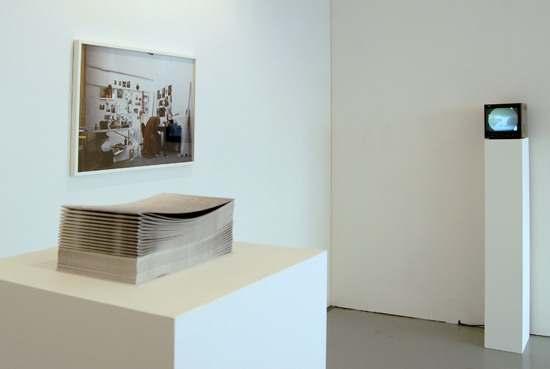 'Opera', 2008 (on plinth), top; 'La danse de l'amour et de la haine de soi, London (The dance of self love and self hate), 2008, right; 'Basking in the melodrama of my own self-consciousness',  2008, DVD 5:49 mins