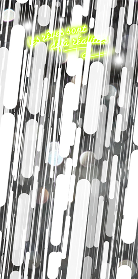 'Les rêves sont déjà réalitiés, (Romance Posters, Series II)', 2011, Milly Thompson, digital print,  90 x 265 cm