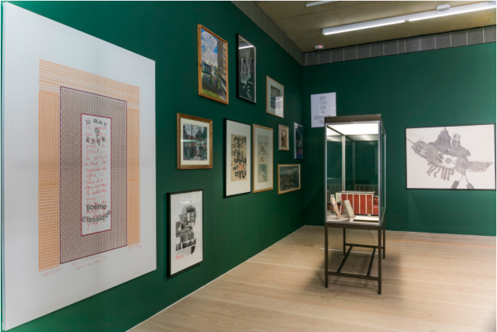 The Peculiar People, 2016, installation Focal Point Gallery ('Save Southend on Sea Central Library' showing at centre bottom).
