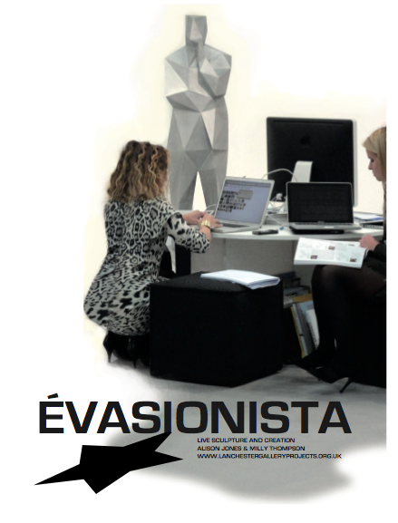 'Advert' for 'Évasionista', 2012, live sculpture and creation performed during the exhibition 'Évasion'