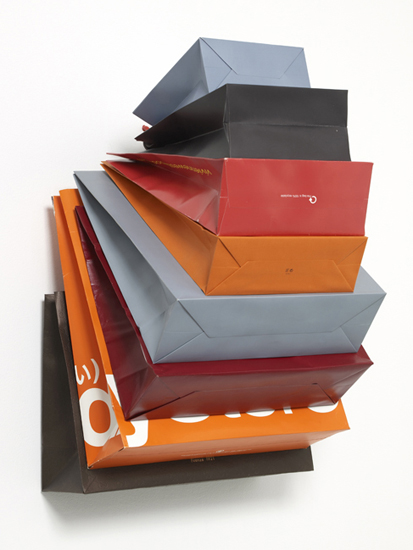 'Muse Privé ~ African Adventure', 2013, Bags, cardboard, hook, 66 x 48 x 52 cm