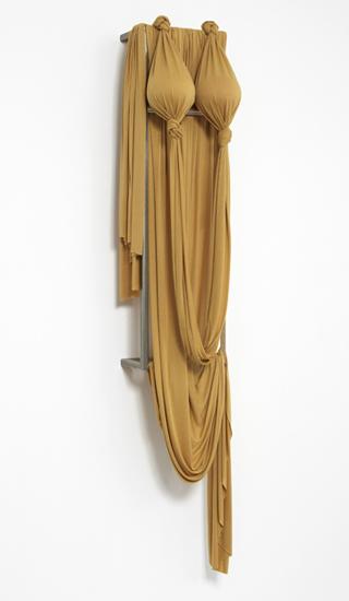 'Desert Siren ~ Gold Mirage', 2013, Viscose jersey, polystyrene, acrylic, wood, 183 x 36 x 33.5 cm
