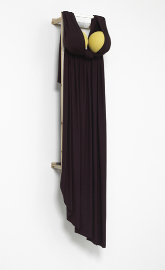 'Desert Siren ~ Berber Sand', 2103, Viscose jersey, polystyrene, acrylic, wood, 148 x 38 x 33.5 cm, 2013