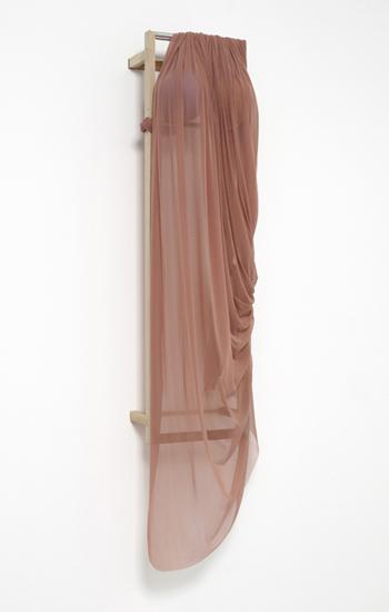 'Desert Siren ~ Pink Dust', 2013, Polyester net, polystyrene, acrylic, wood, 131 x 37 x 33.5 cm