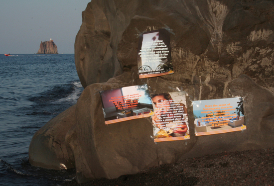 POSTERS FOR PLEASURE 3: Galleria del Mare, Ginostra, Stromboli, Aolian Islands, Italy, Stromboli/August 2012/Summer Picnic/©Milly Thompson, 2012